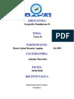 ACTIVIDAD II GEOGRAFIA DOMINICANA II