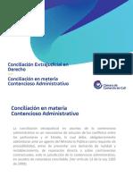 Conciliacion En materia Contencioso Administrativo