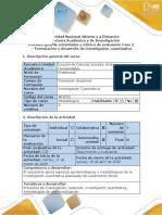 Guia actividades rúbrica de evaluación -Fase 2 Formulación y desarrollo de investigación cuantitativa
