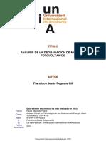 Analisis Degradacion Modulos FV