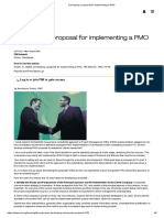 Developing a proposal for implementing a PMO