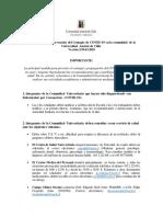 Protocolo Para La Prevencion Del Contagio de Covid 19 Uach
