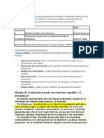 Modelo de Evaluación basada en el método científico