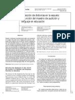 Detección de disfonías en la escuela la función del maestro de audición y lenguaje en educación.