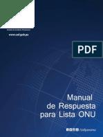 Manual de Respuesta de Lista Onu