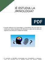 Desviología Criminológica  1 y 2