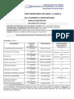 01 - Demandas Iniciais dos Prof.s UACC por Monitores 2020.1 e 2020.2