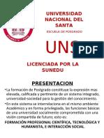EXPOSICION UNIVERSIDAD NACIONAL DEL SANTA 2020