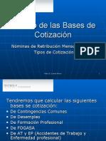 Cálculo de las Bases de Cotización