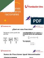 Operaciones con números racionales