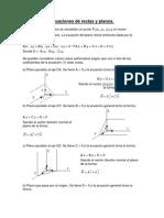 Ecuaciones de Rectas y Planos