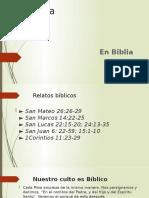 Eucaristía  en la Biblia