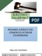 RÉGIMEN JURÍDICO DEL COMERCIO EXTERIOR COLOMBIANO