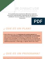 NIVELES OPERATIVOS DE LA PLANEACIÓN (1)