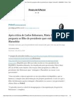 Após crítica de Carlos Bolsonaro, Flávio Dino pergunta se filho do presidente quer extinguir o Maranhão - 03_04_2020 - Painel - Folha