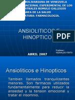 FARMACOS ANSIOLITICOS E HINOPTICOS