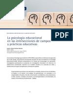 3) La psicología educacional en las intersecciones de campos y prácticas educativas