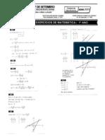 Matemática - Pré-Vestibular7 - Resolução de Exercícios V