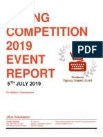 ResultReportOfTypingCompetition2019