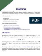 Números complejos o imaginarios (introducción)