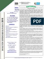 BOLETIN EPIDEMIOLOGICO SE. 43-2019