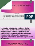 2) Psicología Educacional Clase 1