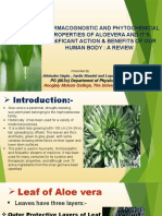 pharmacogonostic and phytochemical properties of Aloe Vera.