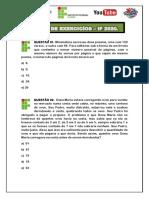 1° LISTA DE EXERCICIOS DE M.M. E M.D