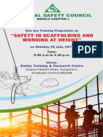 One Day Training Programme on Safety in Scaffolding and Working at Height