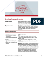 One Day Program Overview