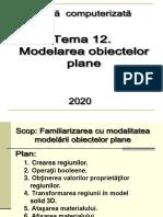 Modelarea obiectelor plane