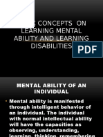 Basic concepts  on learning mental ability and learning