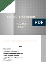 Les fichiers python