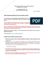 Information and guidelines for students
