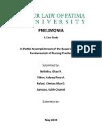 Case Study of PNEUMONIA