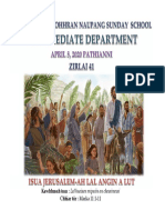 Intermediate Department Zirlai 41-Tumkau Ni- April 5, 2020 - Mission Veng Kohhran