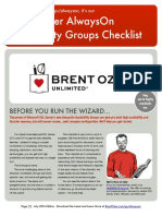 AlwaysOn Availability Groups Setup Checklist