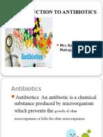 1. Antibiotics