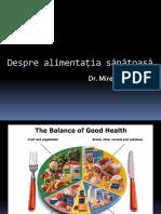 3.Despre Alimentația sănătoasă