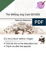 Writing Jing Cast S01E05