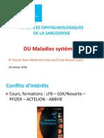 Atteinte ophtalmologique de la sarcoïdose Pascal Sève