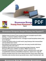 Part2-Prinsip Dasar Kemanan Komputer