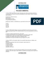 Química Geral - Poluição Ambiental (13 questões)