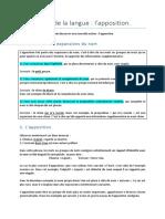 Etude de La Langue L'Apposition (1)