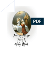 Family Prayer During the Holy Week