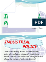RAJESH GOMRA New Industrial Policy
