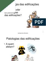 1 Patologia das edificacoes
