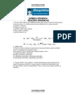 Química Orgânica - Reações Orgânicas (50 questões)
