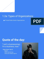 1.2a - Types of Organizations