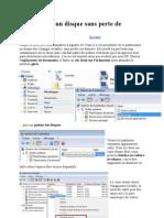 Partitionner un disque sans perte de données